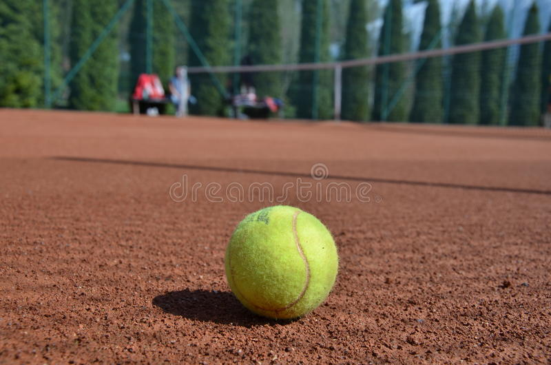 Tenisbal royalty-vrije stock foto's