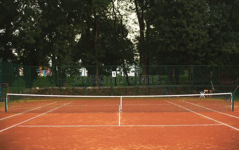 Tenisowa jard sieć, teren I obraz royalty free