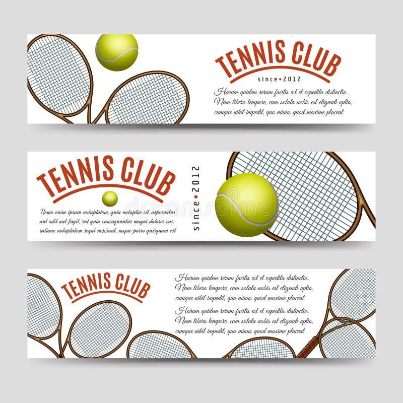 Tenisowego klubu sztandaru kolekcja royalty ilustracja