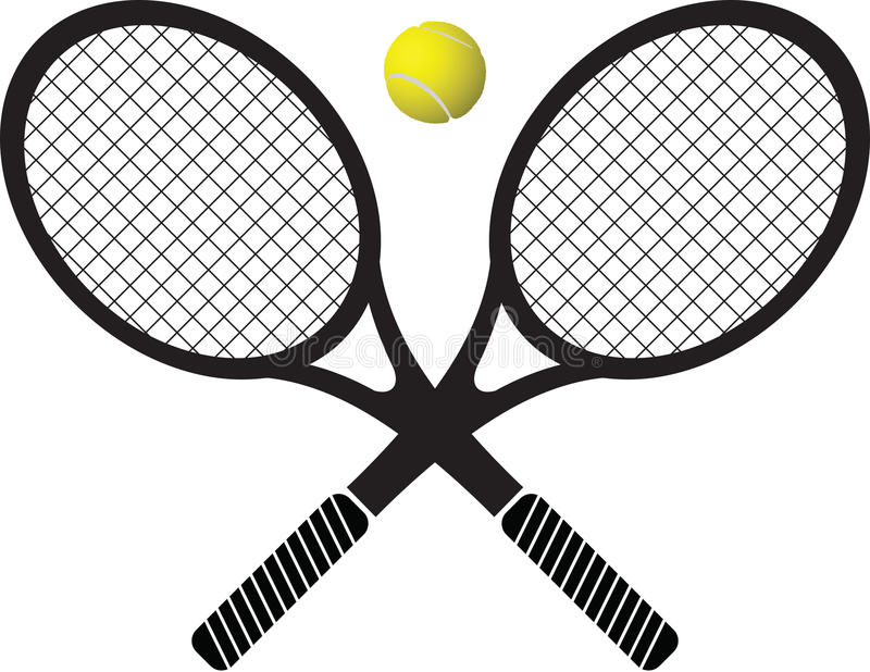 Tenisowi kanty i piłka zdjęcie royalty free