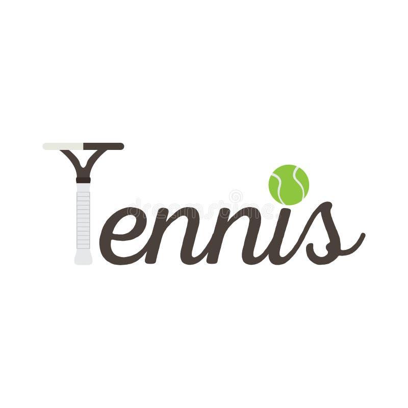 Tenisowy konceptualny wizerunek z tenisową piłką