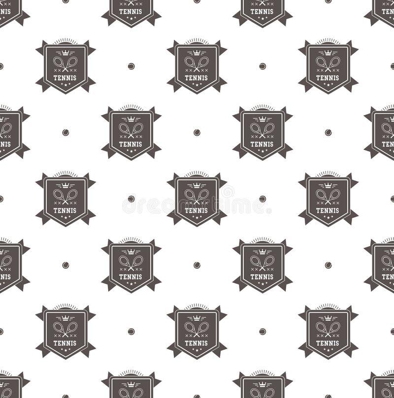 Tenisowy loga wzór royalty ilustracja