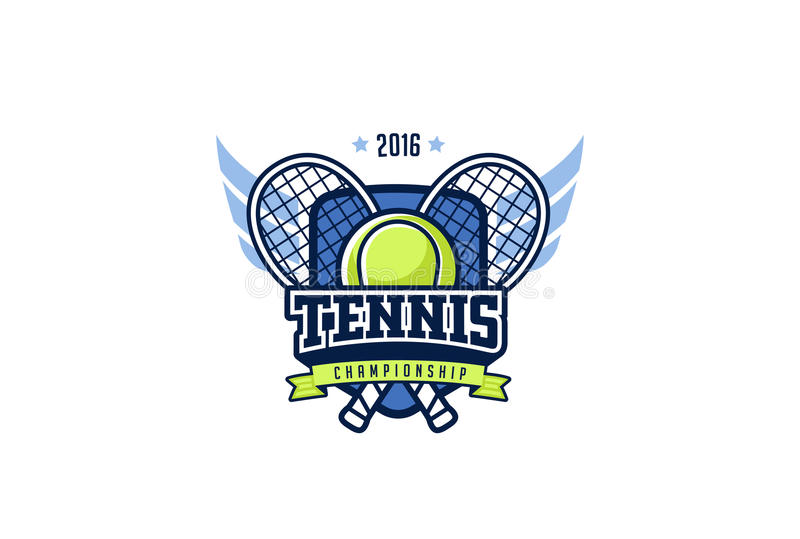 Tenisowy odznaka loga projekt Koszulek grafika sporta tożsamości etykietka ilustracji