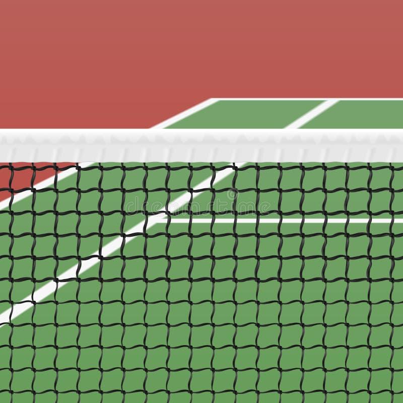 Tenisowy sąd royalty ilustracja