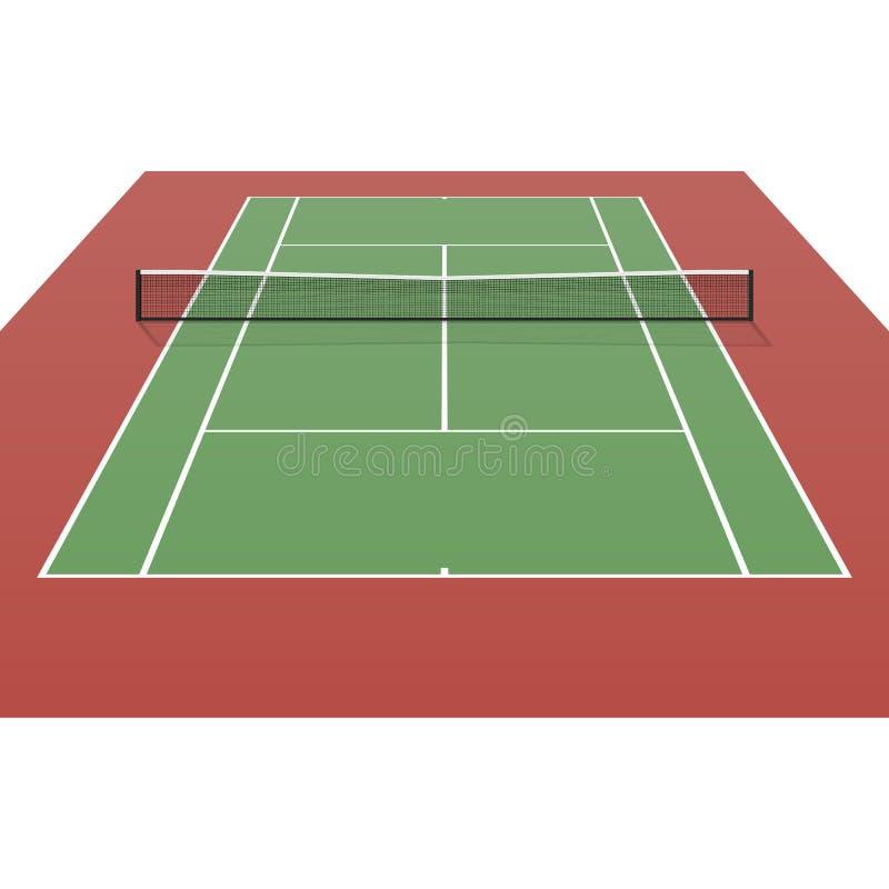 Tenisowy sąd ilustracji