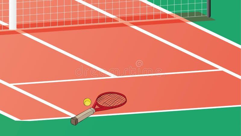 Tenisowy sąd ilustracja wektor