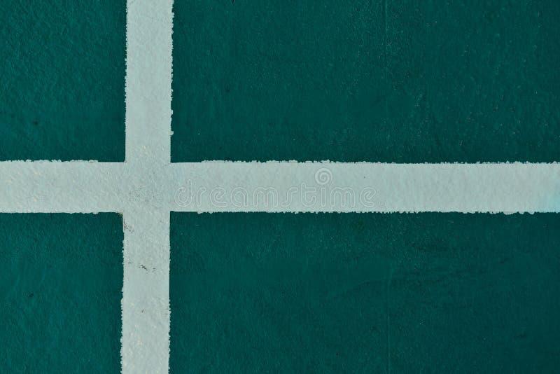 Tenisowy sąd w tenisowym stadium Narożnikowa dworskiego tenisa gra w sporta tle zdjęcie stock
