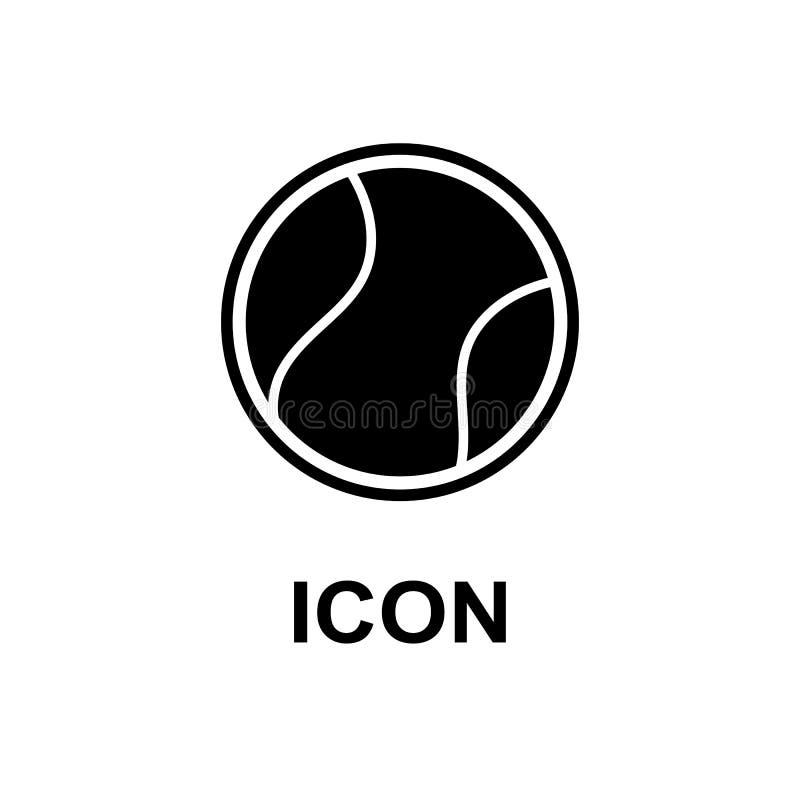 Tenisowy sporta logo ikony projekt, odznaka szablon royalty ilustracja