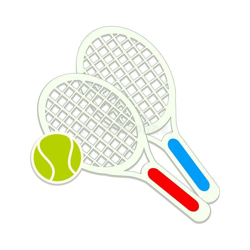 Tenisowy sporta projekt, wektorowa ilustraci eps10 grafika ilustracji