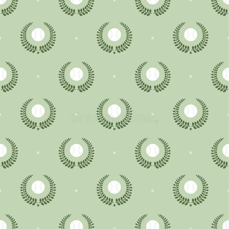 Tenisowych piłek wzór ilustracji