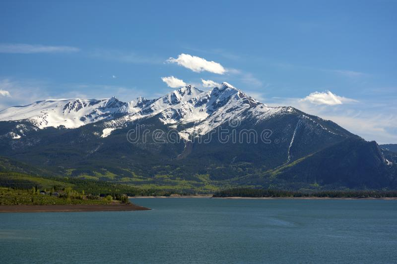 Tenmile Mountain Range and Dillon Reservoir in the Colorado Rockies.  royalty free stock photos