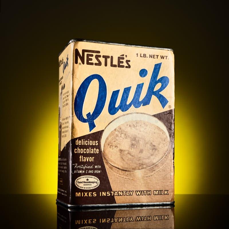 Tenn- ask för Nesquik tappning royaltyfri foto