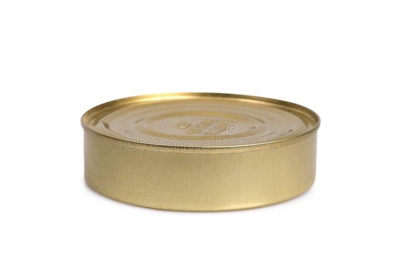 Tenn- can på en vit royaltyfri bild