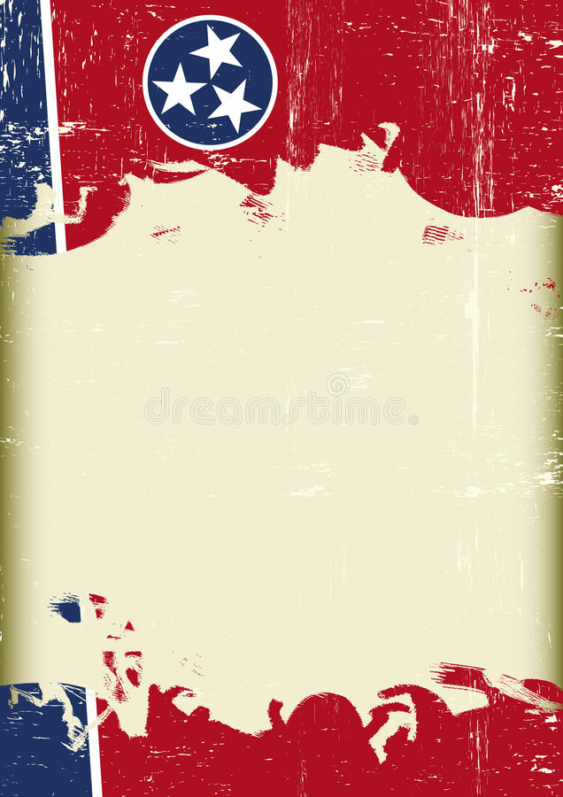 Tennesse flaga grunge tło royalty ilustracja