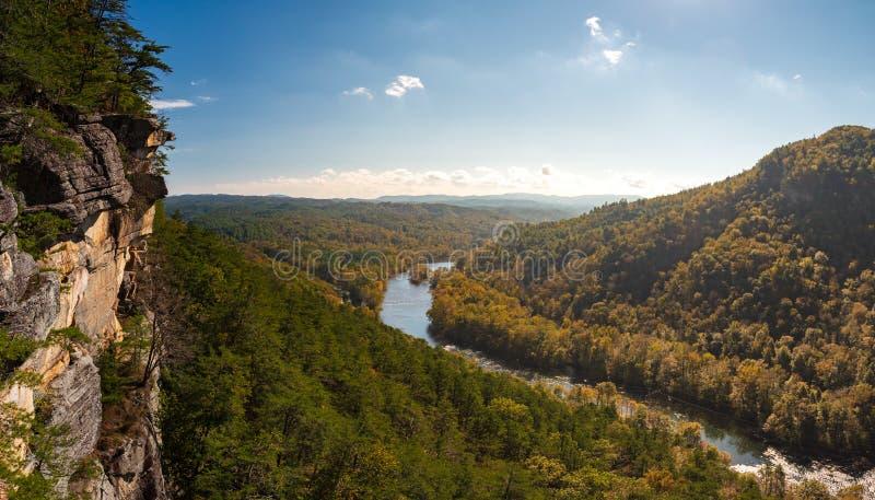 Tennessee Bluffs Near Gee Creek fotografie stock libere da diritti