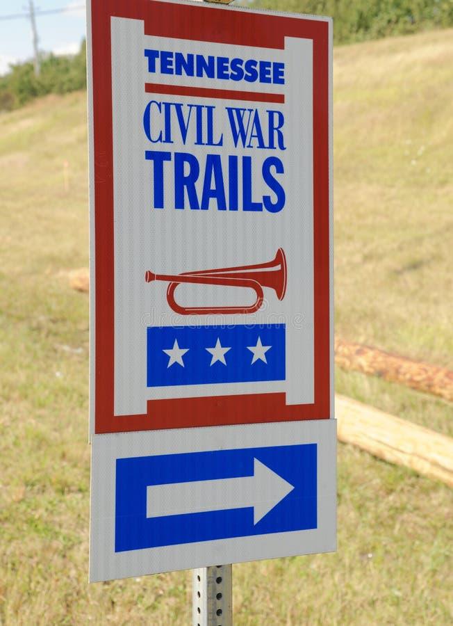Tennessee Cywilnej wojny śladów Szyldowy zakończenie zdjęcia stock