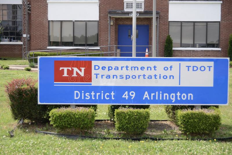 Tennessee Department de transport Arlington, TN image stock