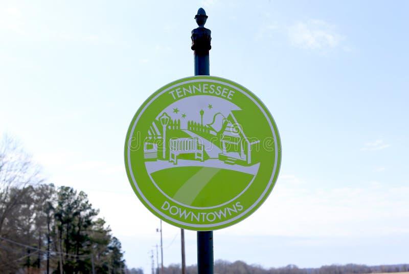 Tennessee Downtowns Sign fotografía de archivo libre de regalías