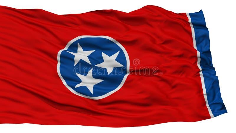 Tennessee Flag d'isolement, état des Etats-Unis illustration de vecteur