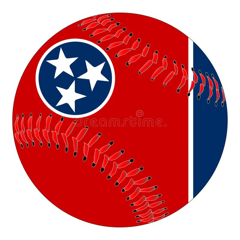 Tennessee flaga baseball royalty ilustracja