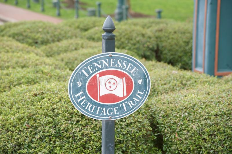 Tennessee Heritage Trails Sign image stock