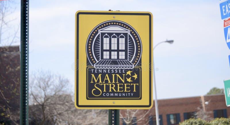 Tennessee Main Street Community photographie stock libre de droits