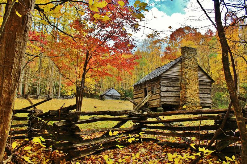 Tennessee pioneer cabin stock photo