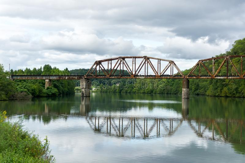 Tennessee River Bridge royaltyfria foton