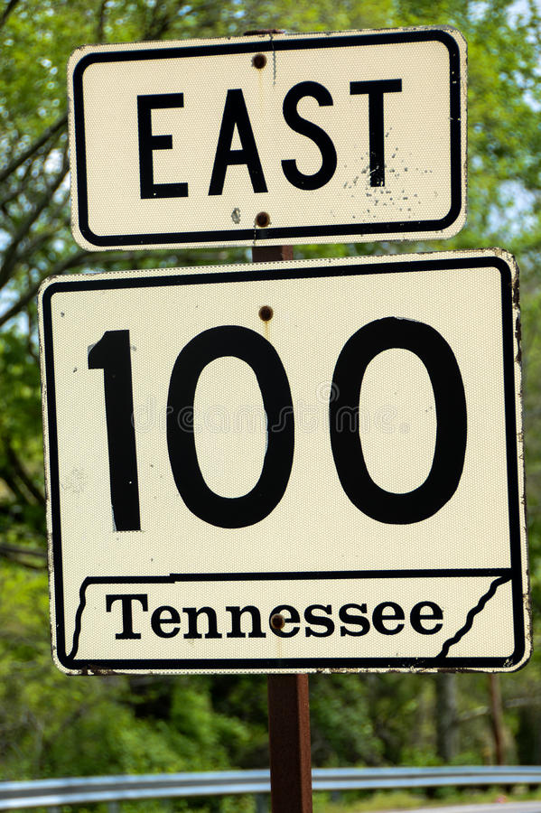 Tennessee Route Sign royalty-vrije stock foto