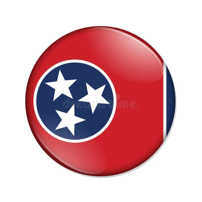 Tennessee-Staatsflaggenausweisknopf lizenzfreie abbildung