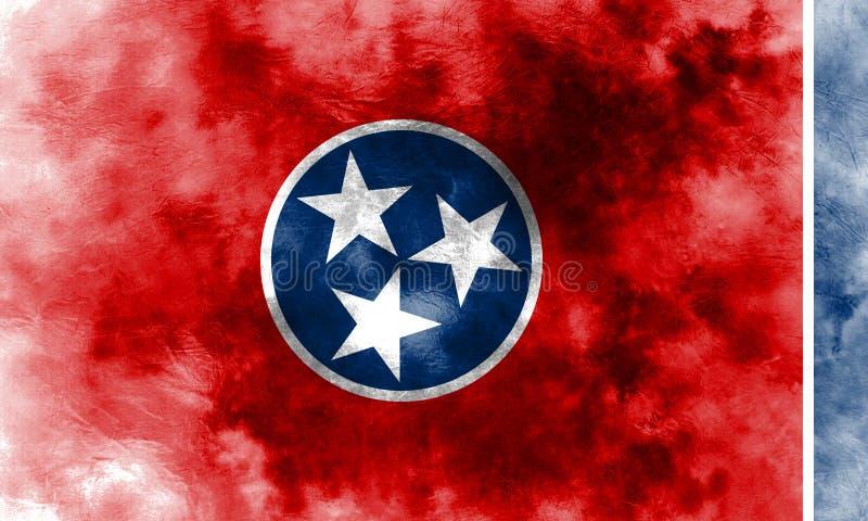 Tennessee stanu grunge flaga, Stany Zjednoczone Ameryka ilustracji