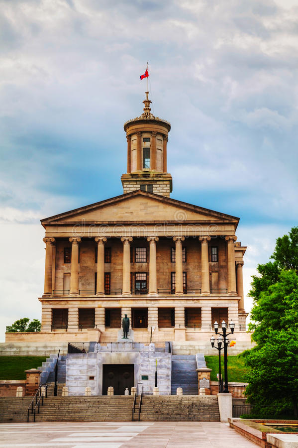 Tennessee State Capitol byggnad i Nashville arkivbilder