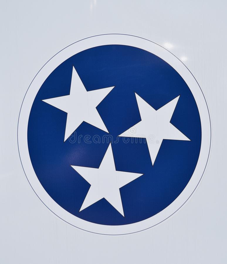 Tennessee State Flag Logo. The state of Tennessee is rooted in the Watauga Association, a 1772 frontier pact generally regarded as the first constitutional stock photography