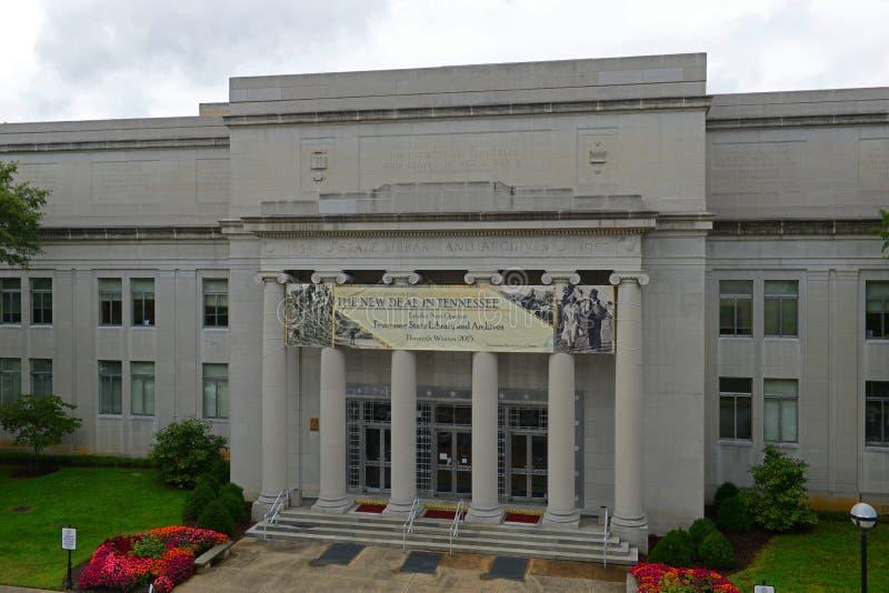 Tennessee State Library och arkiv i Nashville, TN, USA arkivbilder