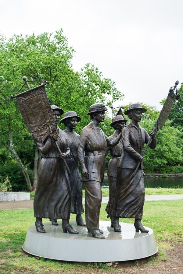 Tennessee Suffragette Statute em Nashville fotografia de stock