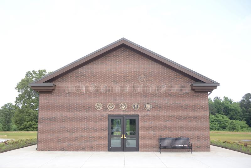 Tennessee Veterans Cemetery Building bei Parker Crossroads stockbild