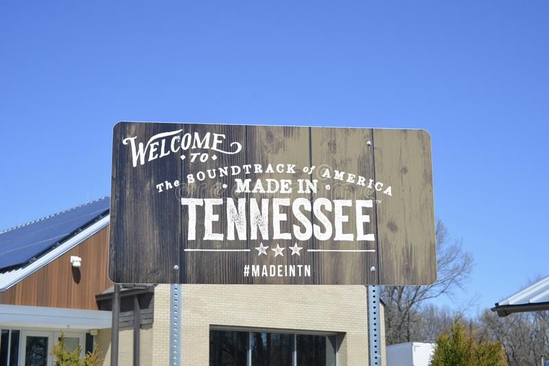 Tennessee Welcome Sign Memphis stockfoto
