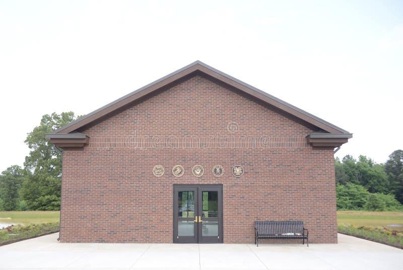 Tennessee weteranów Cmentarniany budynek przy Parker rozdrożami obraz stock