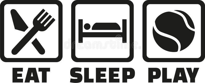 Tennis äter sömnlek vektor illustrationer
