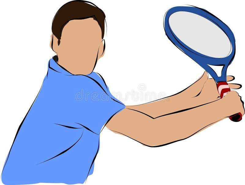 Download Tennis stock vector. Illustration of player, clip, rest - 22770091