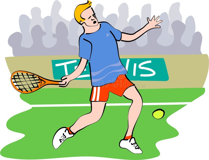 tennis stock illustrationer