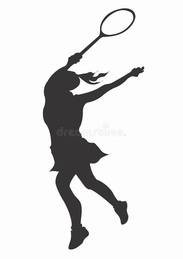 Download Tennis stock illustrationer. Illustration av kvinnlig, flicka - 282395