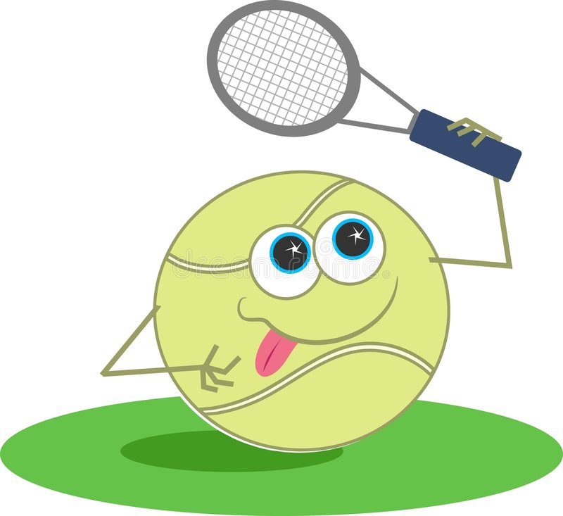 Tennis illustration stock