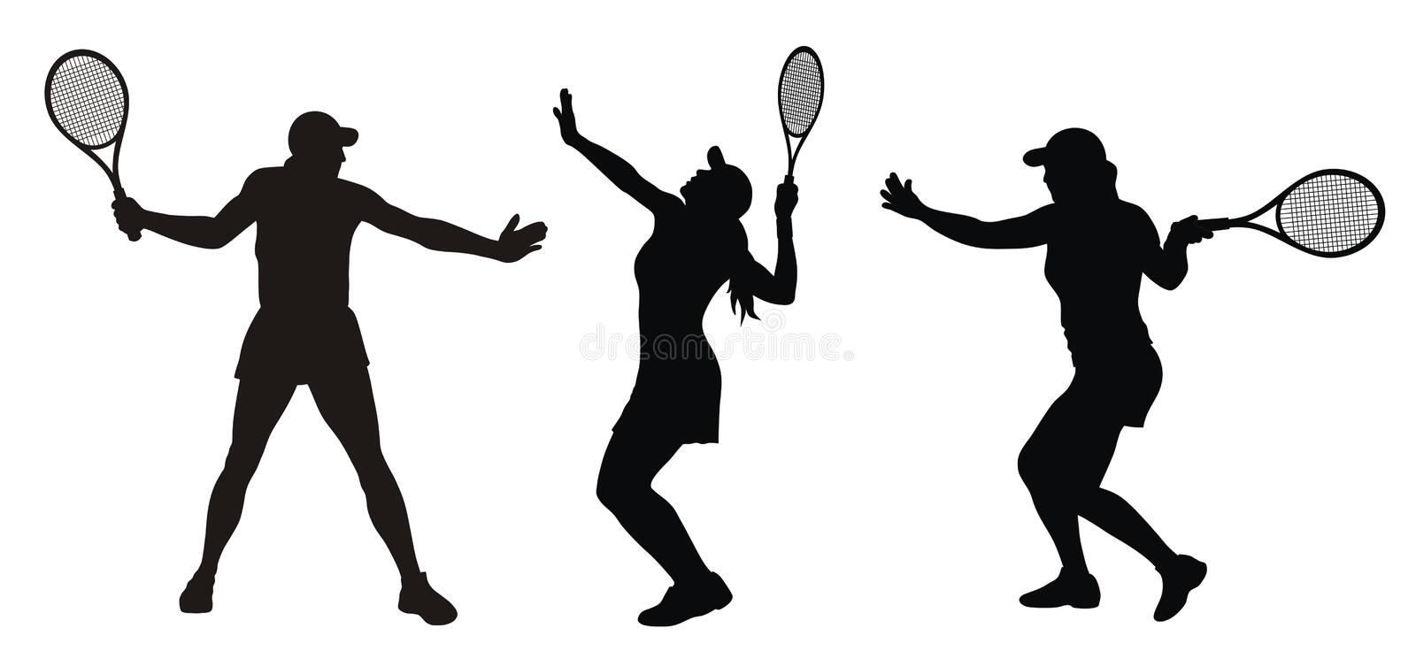 tennis vektor illustrationer