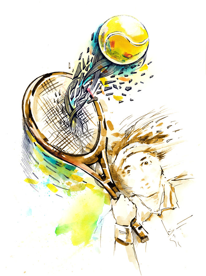 tennis stock illustratie