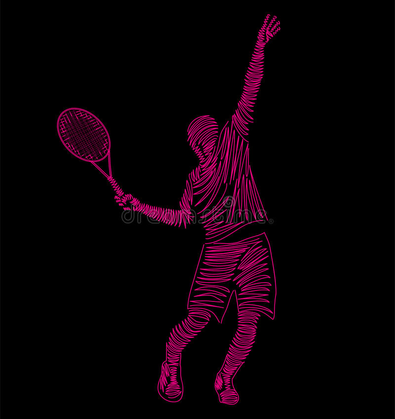 tennis royaltyfri illustrationer