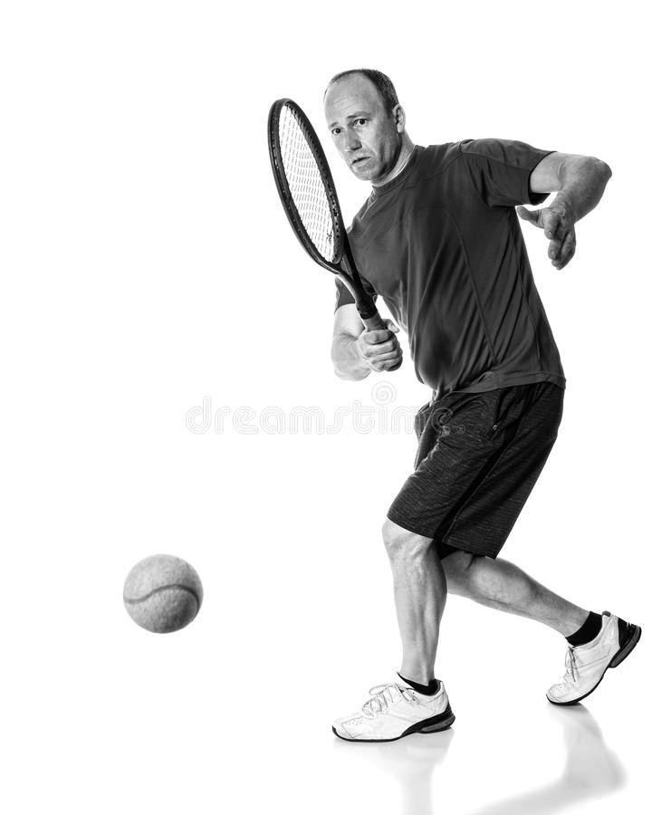 Tennis Action stock photo