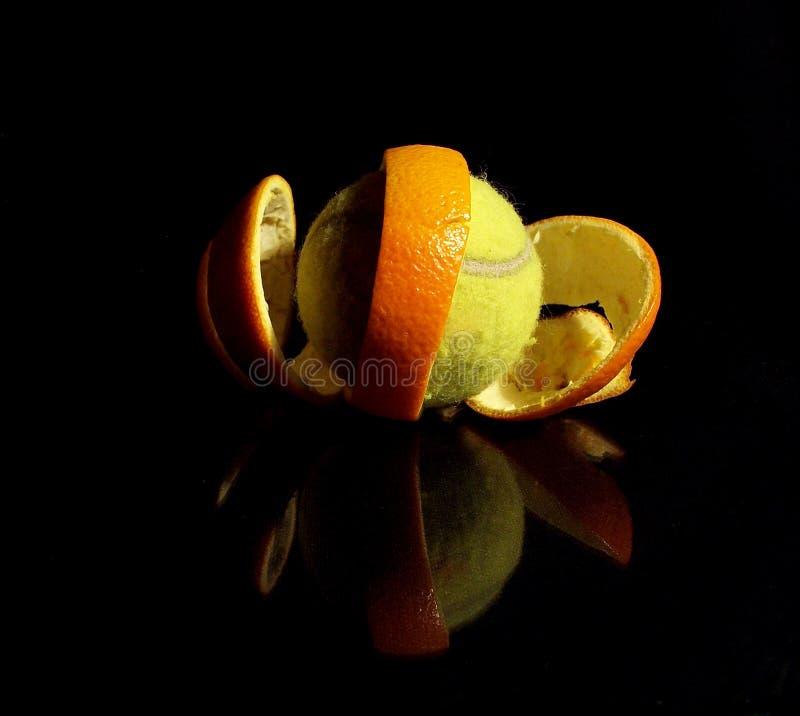 Tennis arancione fotografia stock libera da diritti