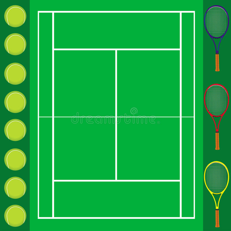 Download Tennis background card stock vector. Illustration of background - 16936544