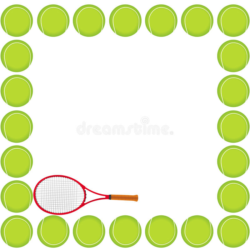 Download Tennis background card stock vector. Image of orange - 16936556